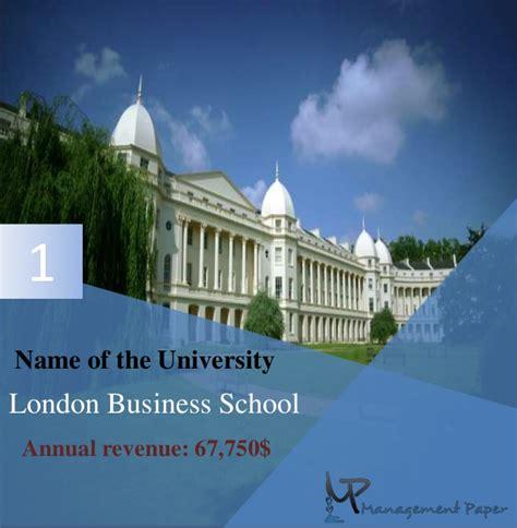 Lbs Mba Fees by Top 10 Best B School In Uk