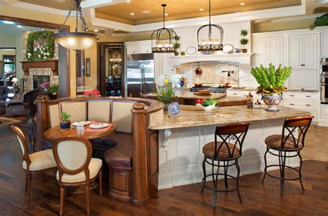 Kitchen Island With Built In Table Built In Kitchen Table Booth Kitchen Traditional With Eat In Kitchen Rustic Dining Table Kitchen