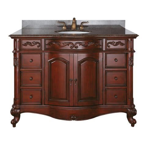 avanity provence 49 quot single bathroom vanity antique
