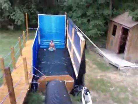 Images Of Backyards With Pools Extreme Redneck Backyard Waterslide Youtube