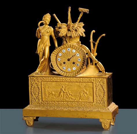 pendole da tavolo pendola da tavolo in bronzo dorato francia xix secolo