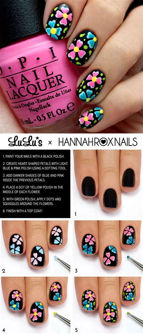 easy nail art tutorial step by step 20 easy step by step summer nail art tutorials for