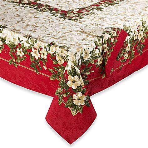 bed bath and beyond christmas tablecloths joyous holiday tablecloth and napkins bed bath beyond