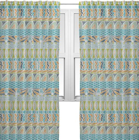 Teal Sheer Valance Abstract Teal Stripes Window Sheer Scarf Valance