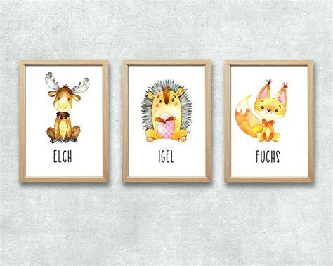 kinderzimmer bilder tiere kinderzimmer deko waldtiere dekoration bild idee