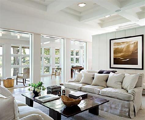 linen slipcovered sofa cottage living room