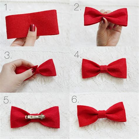 How To Make Handmade Hair Bows - bowtalk diy felt hair bow