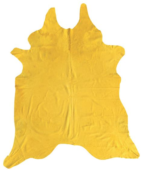 Yellow Cowhide Rug Cowhide Rug In Yellow Eclectic Rugs By Domayne