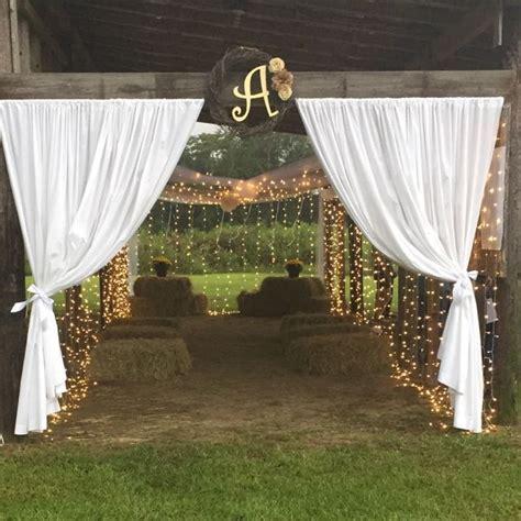 Homemade pole barn wedding   Wedding Decorations