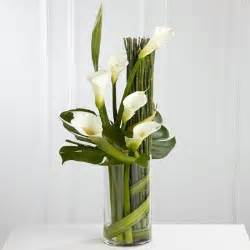 Tall Lily Vase Calla Lily Arrangement Lawless Flowers Limerick Co