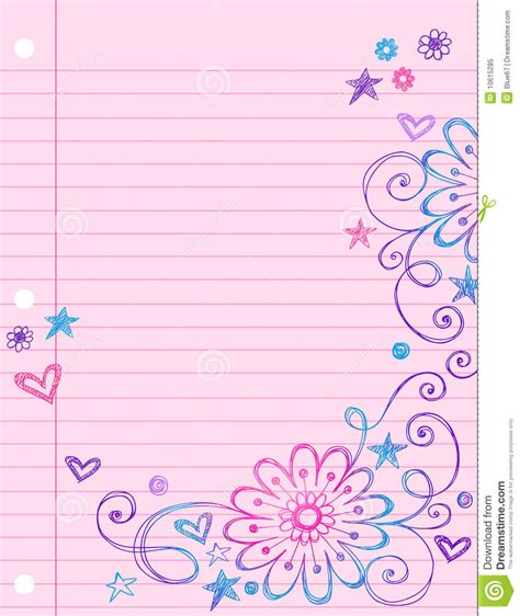 lined paper with plant border background cute notebook google search backgrounds