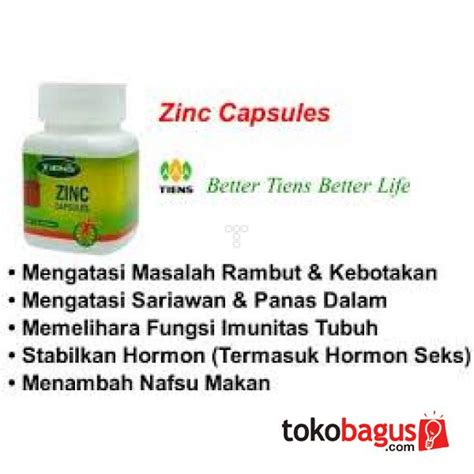 Obat Herbal Zinc nutrisi tiens obat herbal alami zinc supplement
