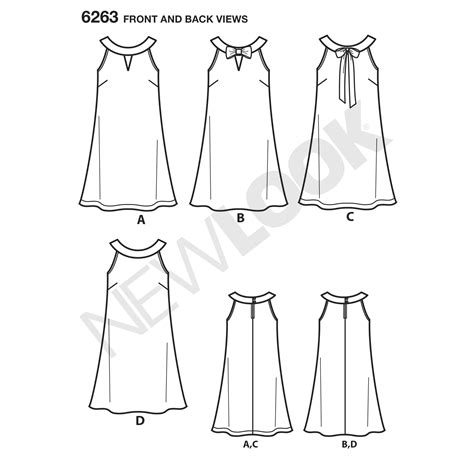 pattern ai line pattern for misses a line dress simplicity