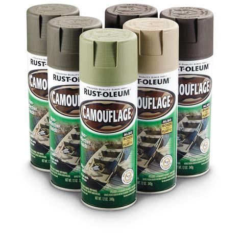 camoflage paint 6 pc rustoleum 174 camo paint kit 231073 garage tool