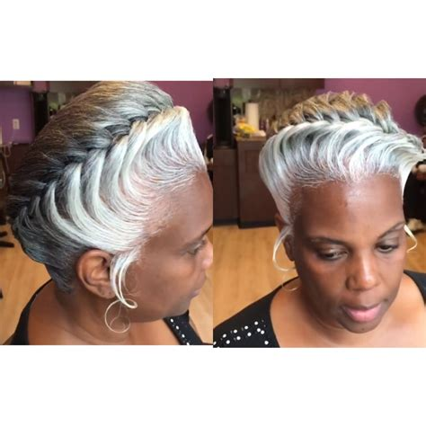 natural gray hair styles for black women i m wearing my hair just like this black women natural