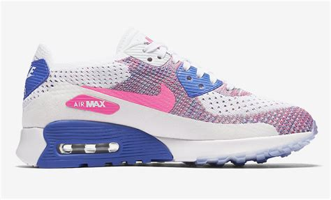 pink pattern air max nike air max 90 ultra 2 0 flyknit racer pink sneaker bar