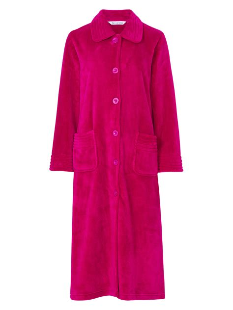 dressing gown slenderella luxury length buttoned front dressing gown