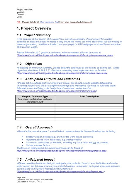 project exit strategy template project plan template v3 0 jan 2012