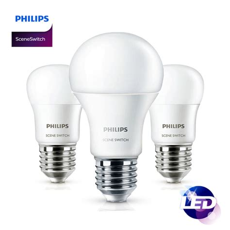 Philips Led Bulb 6 5w Paket Isi 4 philips led switch light bulb e27 6 5w 9w dimmable a19 2 3 steps