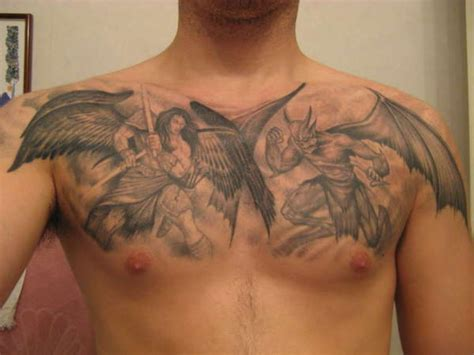 angel and devil tattoo 20 great and designs entertainmentmesh