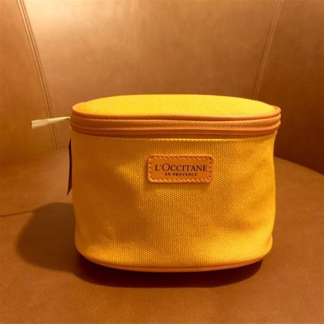 L Occitane Yellow Cosmetic Pouch l occitane en provence makeup bag mugeek vidalondon