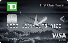 Td Visa Gift Card Canada - td first class travel visa infinite card td canada trust