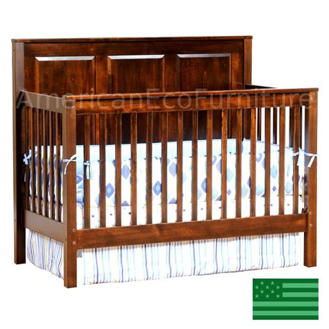 quincy panel 4 in 1 convertible baby crib solid wood