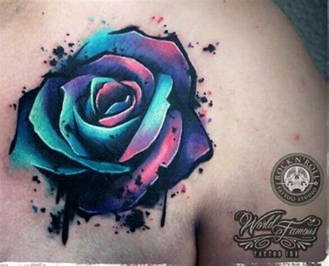 water color rose tattoos 3d water color sleeve inspiration