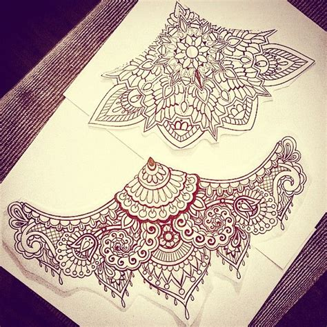 mandala underbust tattoo two sternum underbust designs that are available