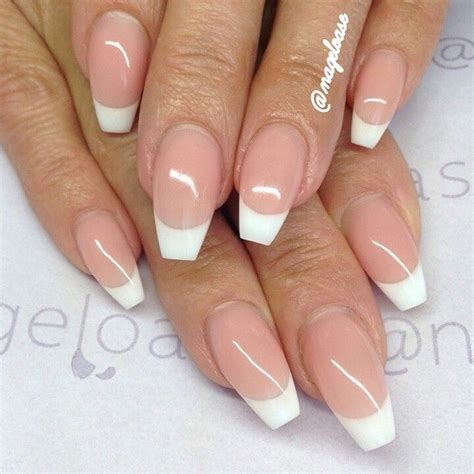 short coffin nails margaritasnailz pinterest coffin french manicure coffin 3 double team dynamicpunch