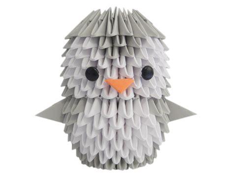 3d Origami Penguin - 3d origami penguin espressions