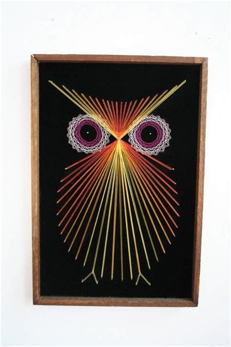 owl black velvet framed string gifts