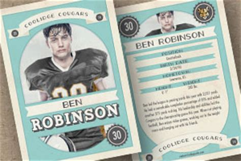 vintage trading card template sports 171 custom trading cards