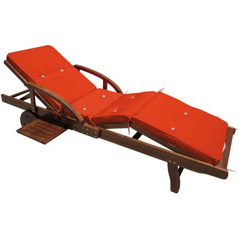 recliner sun lounger cushions sun lounger recliner cushion tami orange water repellent
