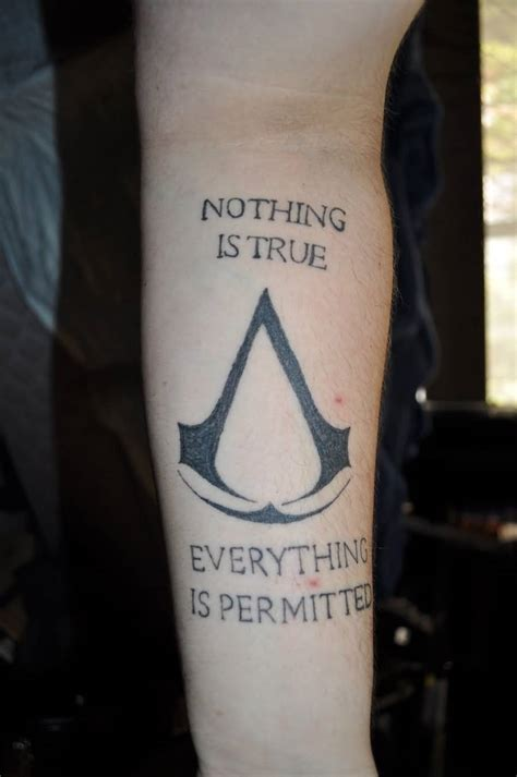 tattoo assassins assassins creed on finger by shawneigh