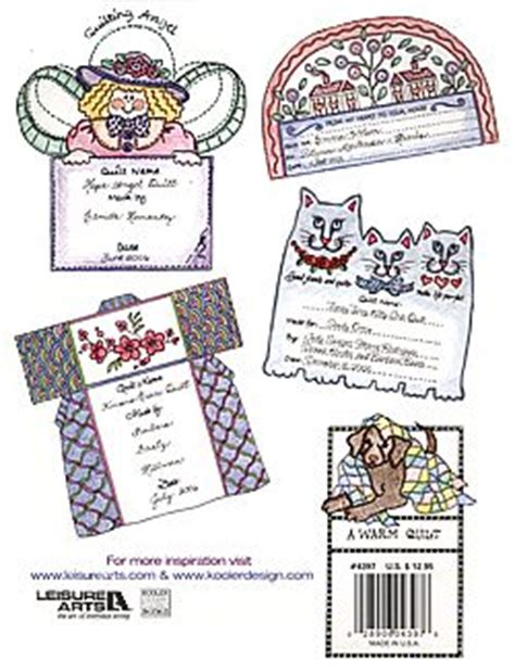 Quilt Label Exles by 50 More Nifty Iron On Quilt Labels By Barbara Baatz Hillman