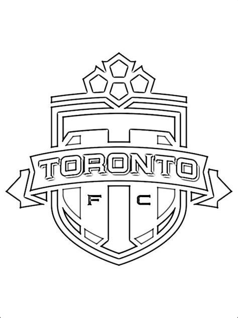 coloring pages football clubs toronto fc football club coloring page coloring pages