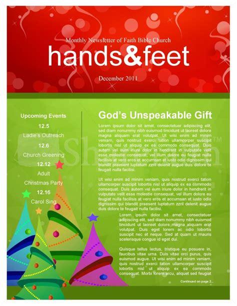 christmas tree newsletter templates template newsletter