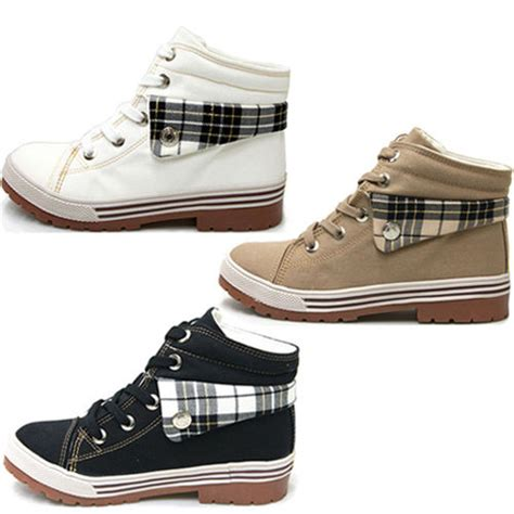 womens high top athletic shoes new womens athletic canvas high top ankle sneakers boots