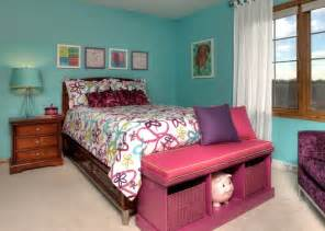 Contemporary Bedroom Color Schemes - teenage s bedroom traditional kids milwaukee by suzan j designs decorating den