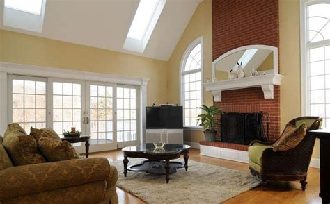 fireplace in the living room red brick wall for living room fireplace interior design