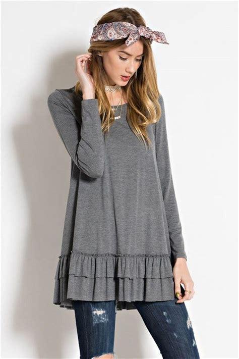 Hem Ruffle Stripe Atasan Baju Wanita 1000 images about fashion on qvc tunics and swing dress