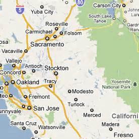 map of fresno california and surrounding area california map
