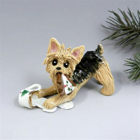 yorkie yorkshire terrier christmas ornament by themagicsleigh