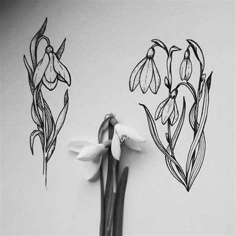 snowdrop tattoo designs best 25 birth flower tattoos ideas on birth