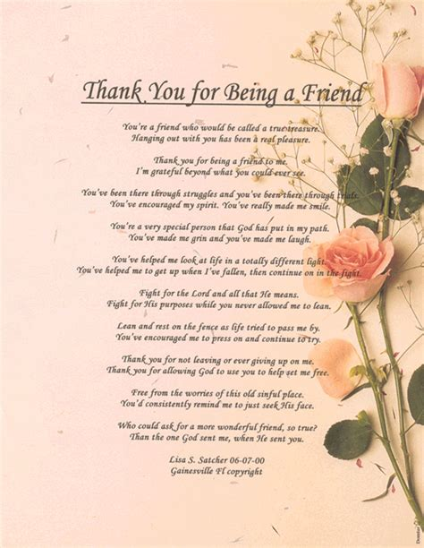 thank you letter to christian friend thank you poems inspirational christian poetry