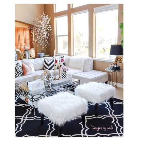 fuzzy white ottoman 17 best images about beautiful homes on pinterest chairs