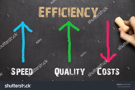 Small Business Efficiency Act efficiency business concept on black backgruond stock