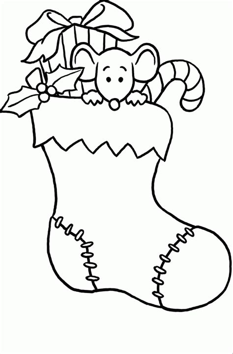 Cute Stocking Coloring Page | christmas stocking coloring pages coloring home