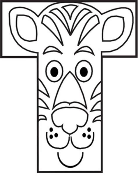 tiger t coloring page capital letter t iis for tiger coloring page bulk color